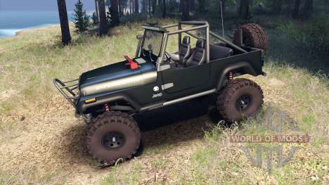 Jeep YJ 1987 Open Top dark green pour Spin Tires