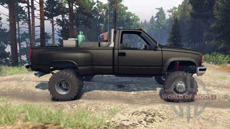 Chevrolet Regular Cab Dually black pour Spin Tires