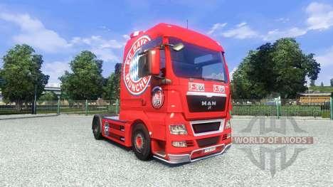 Haut FC Bayern München auf dem LKW MAN für Euro Truck Simulator 2