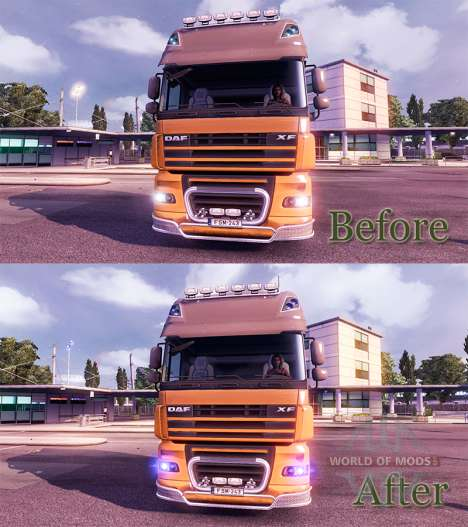 La lueur bleue des phares pour Euro Truck Simulator 2