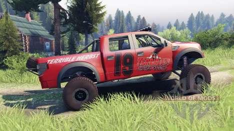 Ford Raptor Pre-Runner v1.1 terrible herbst für Spin Tires