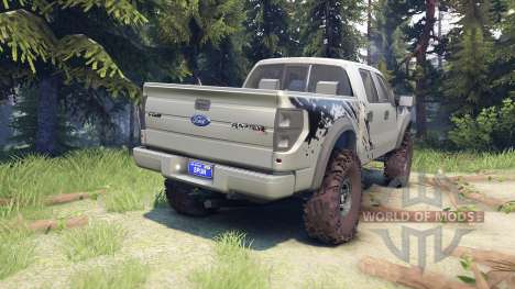 Ford Raptor SVT v1.2 factory ignot silver pour Spin Tires