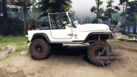 Jeep YJ 1987 Open Top white pour Spin Tires
