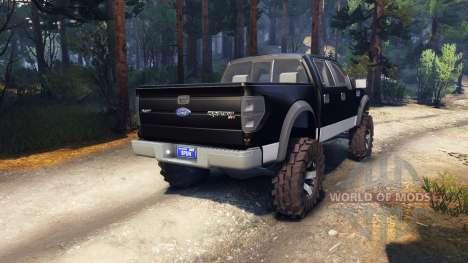 Ford Raptor SVT v1.2 black-gray pour Spin Tires