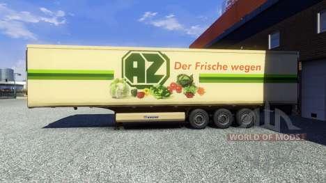 La peau AZ Kempen sur la remorque pour Euro Truck Simulator 2