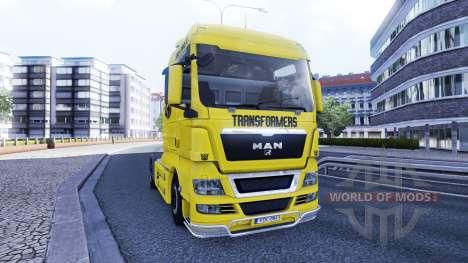 Haut Transformatoren auf die LKW MAN für Euro Truck Simulator 2