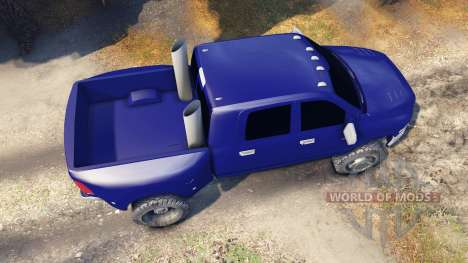 Dodge Ram 3500 dually v1.1 blue pour Spin Tires