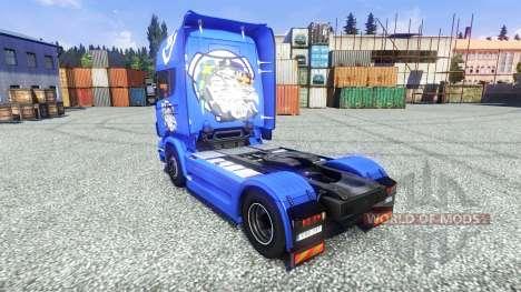 Haut V8 Topline auf der Sattelzugmaschine Scania für Euro Truck Simulator 2