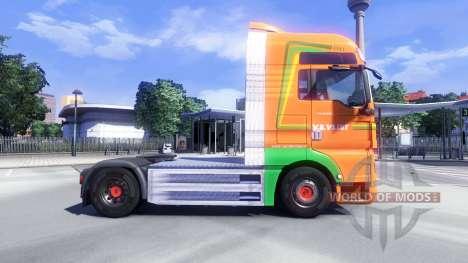 Haut Van Der Vlist auf dem LKW MAN für Euro Truck Simulator 2