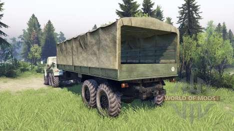 ЗиЛ-137 Zelt-Anhänger für Spin Tires