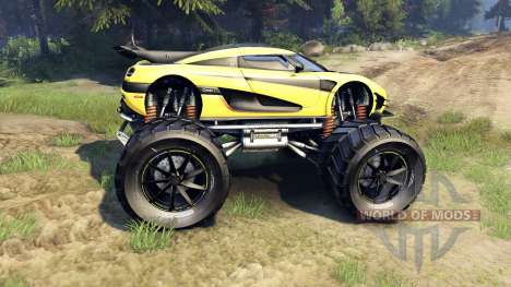Koenigsegg One:1 Monster pour Spin Tires