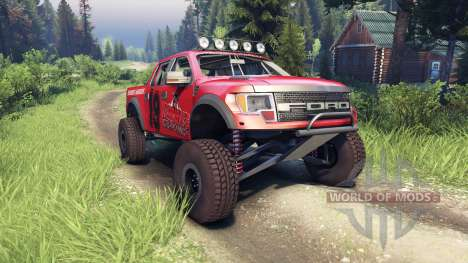 Ford Raptor Pre-Runner v1.1 terrible herbst pour Spin Tires