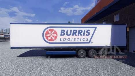 La peau Burris Logistique sur la remorque pour Euro Truck Simulator 2
