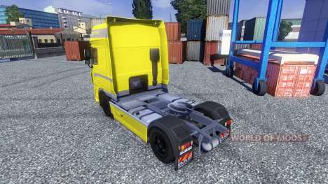 Peau Jaune Édition pour DAF XF tracteur pour Euro Truck Simulator 2