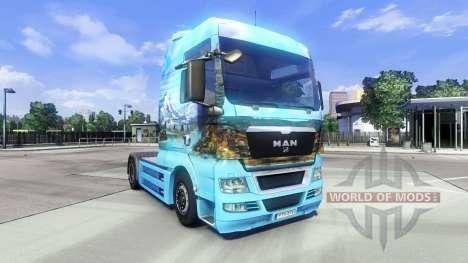 La peau Showtruck Paysage sur le camion de l'HOM pour Euro Truck Simulator 2