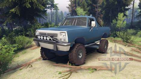 Dodge Ramcharger 1991 Open Top v1.1 light blue pour Spin Tires