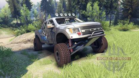Ford Raptor Pre-Runner v1.1 monster pour Spin Tires