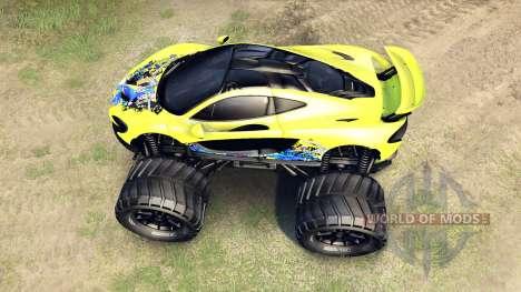 McLaren P1 Monster für Spin Tires