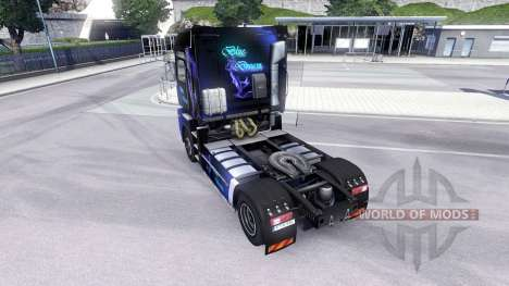 Haut Blue Dream auf der Sattelzugmaschine Renaul für Euro Truck Simulator 2