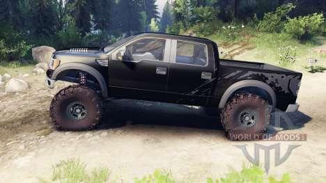 Ford Raptor SVT v1.2 factory tuxedo black pour Spin Tires