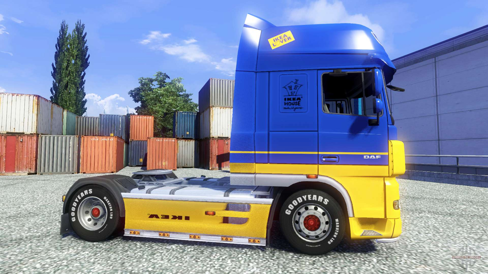 La peau ikea pour daf xf tracteur pour euro truck simulator 2 for Ikea schlafsofa 79 euro