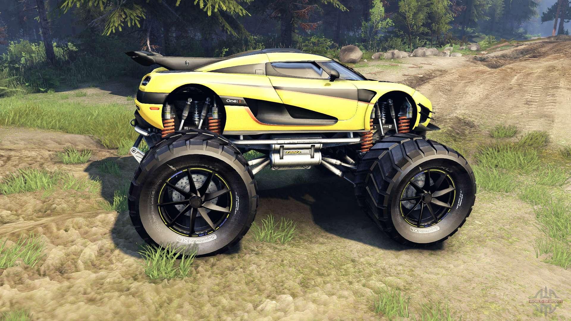 Koenigsegg One 1 >> Koenigsegg One:1 Monster pour Spin Tires