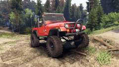 Jeep YJ 1987 Open Top orange