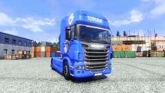 Haut V8 Topline auf der Sattelzugmaschine Scania