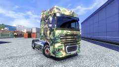 La peau Tarnmuster pour DAF XF tracteur