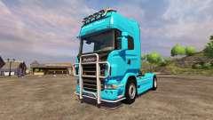 Scania R560 blue