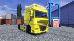 Haut Gelbe Edition für DAF XF Sattelzug