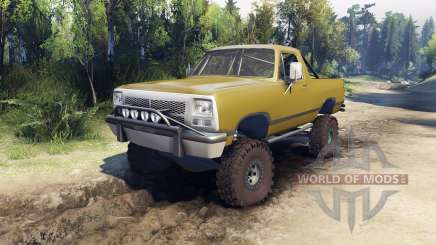 Dodge Ramcharger 1991 Open Top v1.1 olive green pour Spin Tires