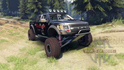Ford Raptor Pre-Runner v1.1 blackwater pour Spin Tires