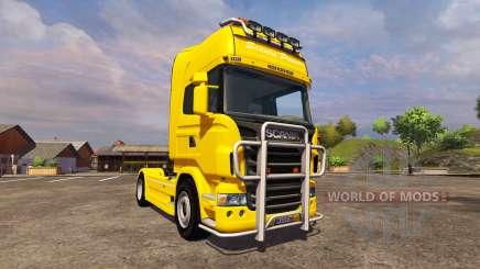 Scania R560 yellow pour Farming Simulator 2013