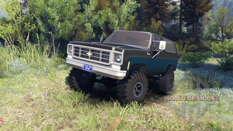Chevrolet K5 Blazer 1975 black and blue für Spin Tires