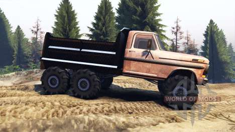 Ford F-100 6x6 v2.0 rusty für Spin Tires