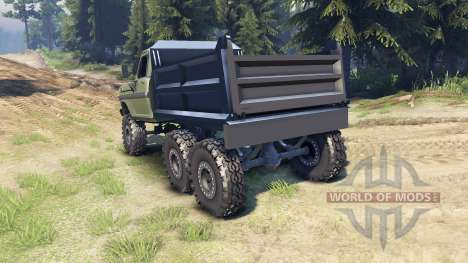 Ford F-100 6x6 v1.1 pour Spin Tires