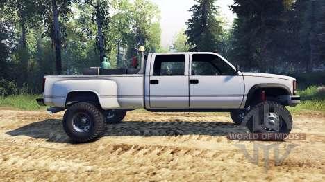GMC Suburban 1995 Crew Cab Dually white für Spin Tires
