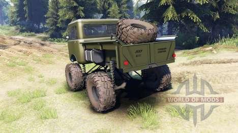 Jeep FC green für Spin Tires