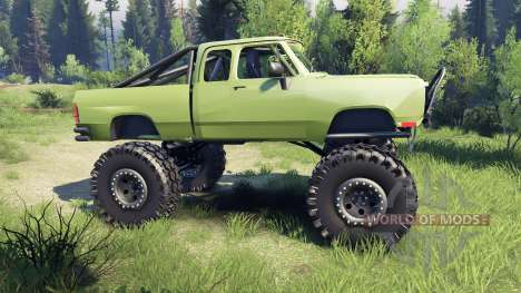 Dodge D200 green für Spin Tires