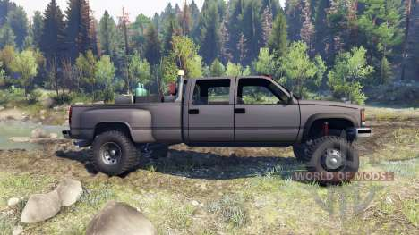 GMC Suburban 1995 Crew Cab Dually gray für Spin Tires