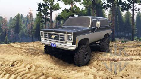 Chevrolet K5 Blazer 1975 black and silver pour Spin Tires
