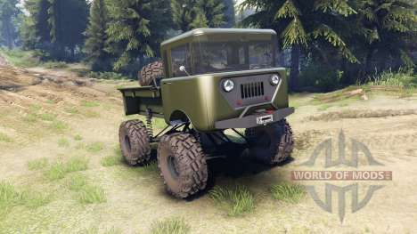 Jeep FC green pour Spin Tires