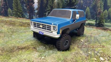 Chevrolet K5 Blazer 1975 blue and black für Spin Tires