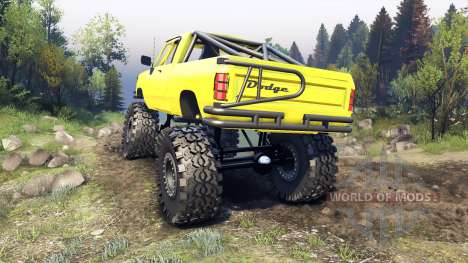 Dodge D200 yellow pour Spin Tires