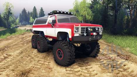 Chevrolet K5 Blazer 1975 Equipped red and white pour Spin Tires