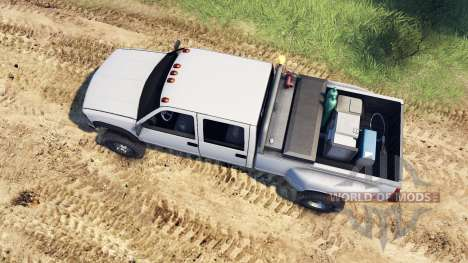 GMC Suburban 1995 Crew Cab Dually white pour Spin Tires