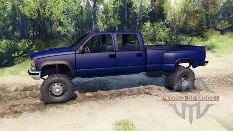 GMC Suburban 1995 Crew Cab Dually blue pour Spin Tires
