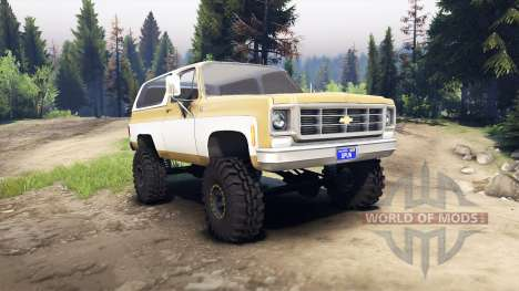 Chevrolet K5 Blazer 1975 light saddle and white für Spin Tires