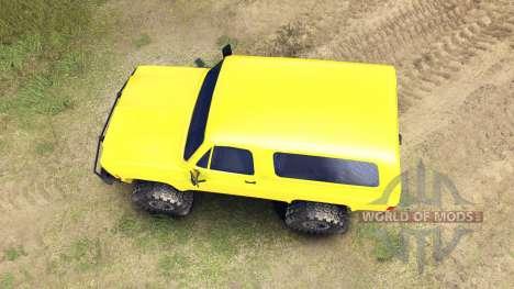 Chevrolet K5 Blazer 1975 v1.5 yellow pour Spin Tires